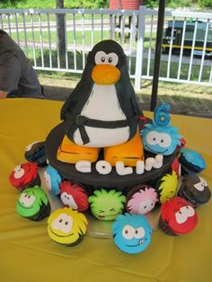 Club Penguin Cake By yokko on CakeCentral.com