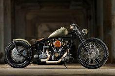 1976 Harley-Davidson Custom shovelhead bobber chopper - This is what is in ERICK's garage. I think I should build it. Bobber Custom, Custom Choppers, Custom Harleys, Custom Bikes, Custom Softail, Bobber Bikes, Scrambler Motorcycle, Cool Motorcycles, Chopper Motorcycle