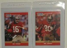 1990 Pro Set San Francisco 49ers Lot Joe Montana & Jerry Rice Modern Original