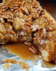 Recipe For Banana Fosters Sticky Buns - Sticky buns with a twist. A banana fosters twist that is.