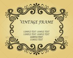 Vintage frame in ancient style