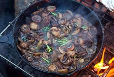 Add a side dish of mushrooms to your dinner with this tasty recipe for roasted mushrooms. Make them on the grill for easy preparation.