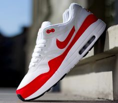 """ae39213dc11dd3 Nike Air Max 1 OG Premium Tape QS """"Challenge Red"""" Best Nike Running Shoes"""