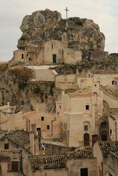 """Sassi di Matera"" - houses dug into the tuff rock #VisitingItaly"