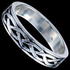 Silver ring, Celtic design Silver ring, Ag 925/1000 - sterling silver. Band with Celtic design. Width approx. 5mm.
