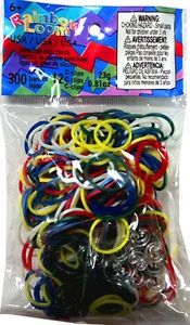 CONFETTI USA Mix Official Rainbow Loom Silicone Rubber Band Loops