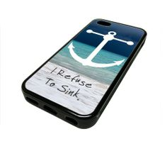 Apple Iphone 5 or 5s Case Cover I Refuse To Sink Sea Anchor Beach Hipster Design Black Rubber Silicone Teen Gift Vintage Hipster Fashion Design Art Print Cell Phone Accessories MonoThings,http://www.amazon.com/dp/B00GUZ99DS/ref=cm_sw_r_pi_dp_oTzKsb1W5TEFNVM1