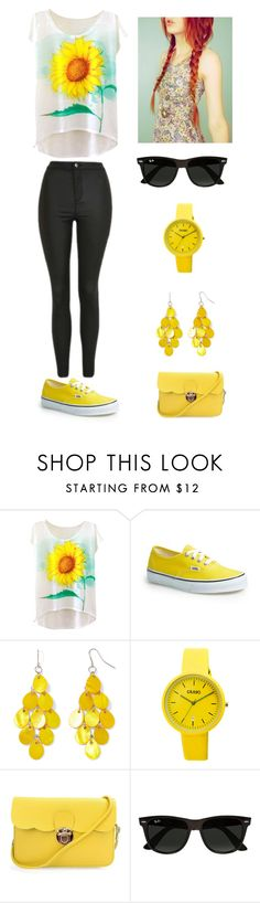 """""""Sin título #305"""" by aolivero ❤ liked on Polyvore featuring Vans, Mixit, Crayo, Ray-Ban and Topshop"""