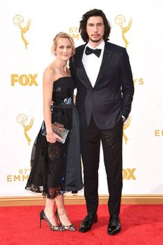 Adam Driver and Joanne Tucker attend the 2015 Emmys  See All the Gorgeous Looks From the 2015 Emmys  - Cosmopolitan.com