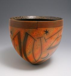Sun, Moon and Stars Bowl by Duncan Ross  definitely reminds me of Xul Solar's paintings