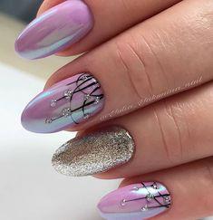 Nails Sencillas Primavera Pies Ideas For 2019 Black Nail Designs, Nail Art Designs, Trendy Nail Art, Funky Nails, Chrome Nails, Super Nails, Purple Nails, Pink Nail, Spring Nails