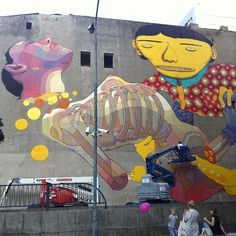 Mural / Łodzi, Osgemeos and Aryz
