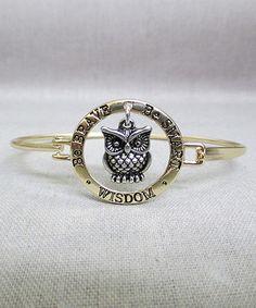 Another great find on #zulily! Gold Owl Bracelet #zulilyfinds