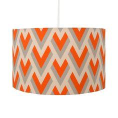 Orange Arrow Geometric Lampshade