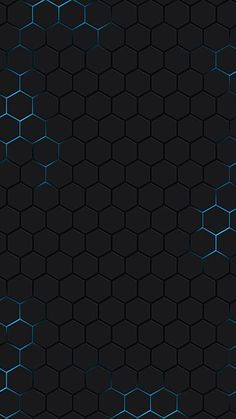 Science and technology hexagon h5 black background
