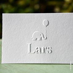 Geboortekaartje Lars - Letterpers.nl