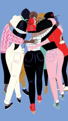 Love this women inspiring women illustration from Libby Vanderploeg. Her illustrations always capture an essence of something we can't always find the words to say, so she illustrates them instead. Illustrator Design, Art Et Illustration, Friends Illustration, Girl Illustrations, Feminist Art, Feminist Quotes, Grafik Design, Girl Gang, Ladies Day