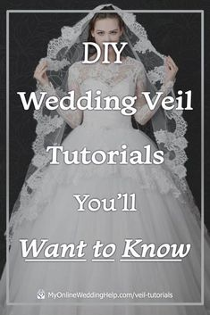 These DIY wedding veil tutorials will help you learn how to make your own wedding veil that is unique to you. Customize yours to go beautifully with your wedding gown. Look for videos and step-by-step instructions for each. Diy Wedding Veil, Wedding Crafts, Budget Wedding, Wedding Gowns, Wedding Planning, Wedding Ideas, Diy On A Budget, Tutorials, Bridal