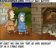 Reverend Fun's Top Five Christmas Cartoons, 2014 Edition on the bright side Christian Comics, Christian Cartoons, Funny Christian Memes, Christian Kids, Christian Humor, Religion Humor, Funny Christmas Cartoons, Funny Cartoons, Funny Memes