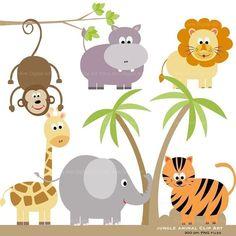 Imágenes Prediseñadas de animales Clip por TracyAnnDigitalArt