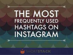 The 50 Most Popular Hashtags on Instagram by ShortStack via slideshare
