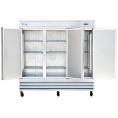 """Avantco SS-3R-HC 81"""" Solid Door Reach-In Refrigerator - 66.5 cu. ft."""