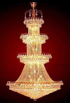 iron golden finish large crystal chandelier ESLC0010 - Large Chandelier - Chandeliers - Eshine
