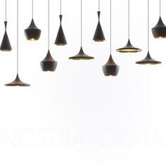 Tom Dixon Beat Light Fat - Black suspension » Design Luminaires Contemporains, Lampes & Mobiliers » NOSTRAFORMA.