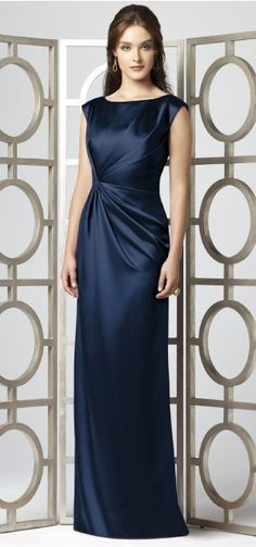 Classy bridesmaid dress in navy blue perfect with headpiece https://www.etsy.com/listing/220424159/swarovski-bridal-headpiece-navy-blue-and?ref=shop_home_active_3