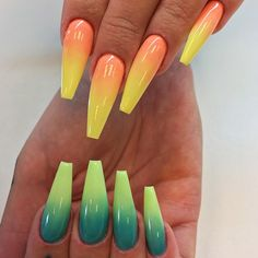 18 Cute Nail Designs that You Will Like for Sure ★ Cute Ombre Nail Designs Picture 1 ★ See more: http://glaminati.com/cute-nail-designs/ #cutenails #cutenaildesigns