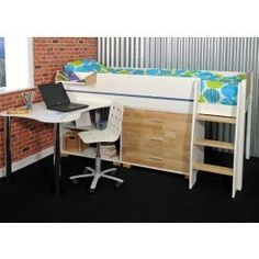 """<div class=""""short-description""""> <div class=""""std""""> <p>The Urban Midsleeper 3 is a stylish and practical space saving childrens midsleeper bed.</p> <p>The Kids Avenue Urban Midsleeper 1 provides a great way for children to use there bedroom for study and play, with plenty of space for storing toys, books and more! The look and feel of this range is very current and the modern bed frame is finished in white with solid birch details, such as treads, head/footboards and drawer fronts.</p> </div>"""
