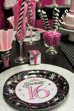 Sweet 16 party ideas for girls #sweet16 #celebrateexpress