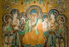 Mogao Caves / Mogao Grottoes / Caves of the Thousand Buddhas Dunhuang… Decoration, Art Decor, Chakra, Dunhuang, Art Chinois, Eastern Philosophy, Art Asiatique, Organic Art, Gautama Buddha