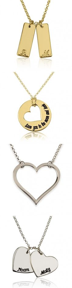 Silver and Gold Plated Love Necklaces