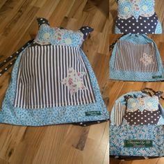 Beutel mit Tasche und Eule, Designed by Tilli, Handmade, Unikat