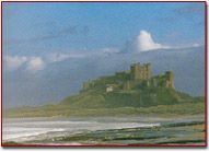 Bamburgh Castle This is the probable site of Sir Lancelot's famous castle of Joyous Garde where he once gave refuge to Tristan and Iseult and where he himself retired to escape the rumours of his liaison with Arthur's Queen.