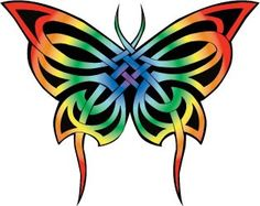 Celtic butterfly tattoo #rainbow