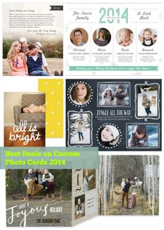 A survey of 9 photo card printing companies and who has the best deals, plus tips on how to make your own custom photo cards! Custom Photo Card Deals 2014
