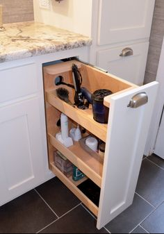 Great way to clear clutter from master bath counter. Transitional Style Master Bath Renovation - traditional - bathroom - charlotte - Kustom Home Design Bathroom Renos, Bathroom Renovations, Master Bathroom, Bathroom Ideas, Bathroom Makeovers, Modern Bathroom, Bathroom Basin, Chic Bathrooms, Minimalist Bathroom