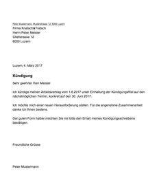 Gratis Kundigungsschreiben Vorlage Mit Diesem Muster Kundigen Sie Als Arbeitnehmer In Der Schweiz Ihre Kundigung Kundigung Arbeitsvertrag Kundigung Schreiben