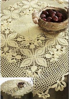Crochê Gráfico: Toalha de crochê quadrada