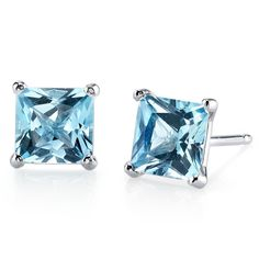 MSRP: $499.99  Our Price: $299.99  Savings: $200.00         Item Number: E18506-E18976    Availability: Usually Ships in 5 Business Days         PRODUCT DESCRIPTION:    These beautiful earrings for her feature Princess Cut Genuine Swiss Blue Topaz Gemstones with a Caribbean Blue Hue with Brilliant Sparkle in 14k Gold and are essential for any girl's jewelry collection. These gorgeous studs are fashioned into sleek white or yellow gold four-pronged settings. The Fit is secure and comfortable…