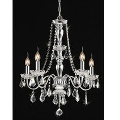 Chrome 5-light Crystal Chandelier | Overstock.com Shopping - Great Deals on Chandeliers & Pendants