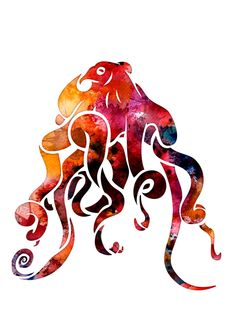 Image result for octopus watercolor
