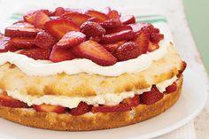 Pastel de fresas simplemente sensacional