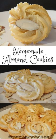 These homemade Almond Cookies are soft and chewy and are loaded with almond flavor. These tasty cookies are easy to make and are made with only 5 ingredients.