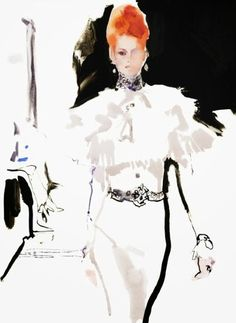 Ŧhe ₵oincidental Ðandy: David Downton: The Revived Art of Fashion & Portrait Illustration