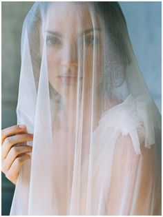 Silk tulle veil by Enchanted Atelier by Liv Hart from The Dreamers SS17 Collection. Hair and makeup by Anna Breeding, model Kathleen McGonigle. Image by Laura Gordon.