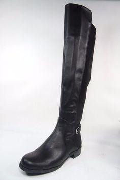 b8c74b2c6f2 Liz Claiborne Polly Womens Boots Around Toe Low Heels Zip Black 6 M(B)   LizClaiborne  KneeHighBoots