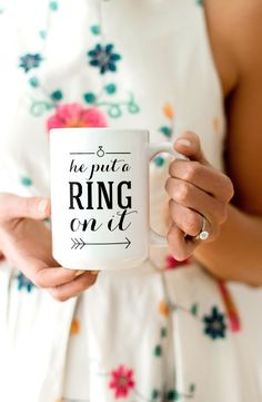 fun engagement mugs!  ~  we ❤ this! moncheribridals.com